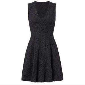 10 Crosby Derek Lam black lace A-line mini dress